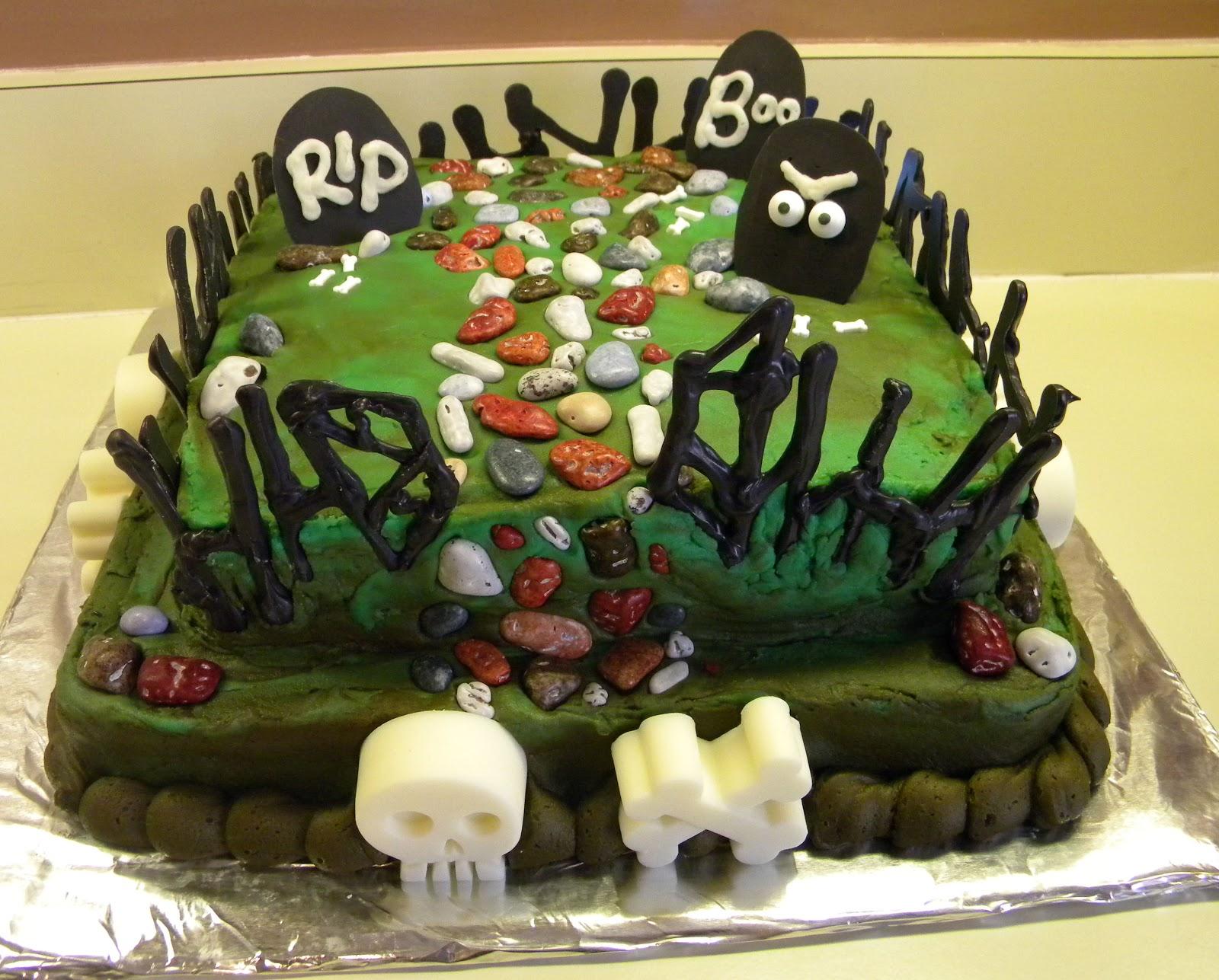 Cake And Jewelry Graveyard Cake