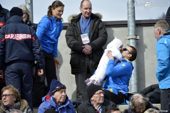 Crown Princess Victoria, Prince Daniel and Princess Estelle attended the FIS Nordic Ski World Championships