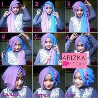 tutorial hijab segi empat untuk pesta