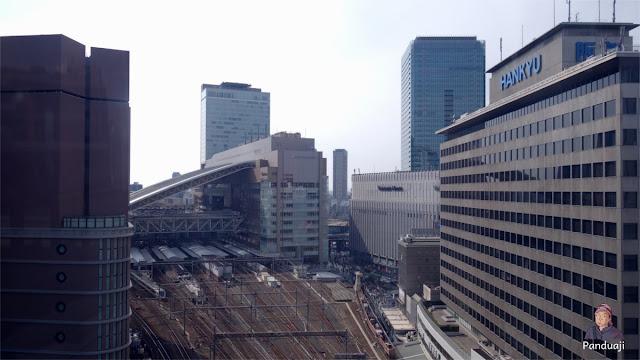 Stasiun Osaka dari HEP Five Ferris Wheel