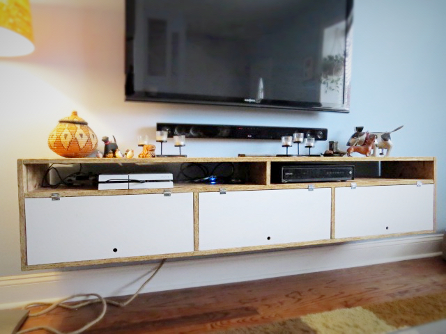 TV Wall Cabinet Shelf Console Thingie. - Flipping the Flip