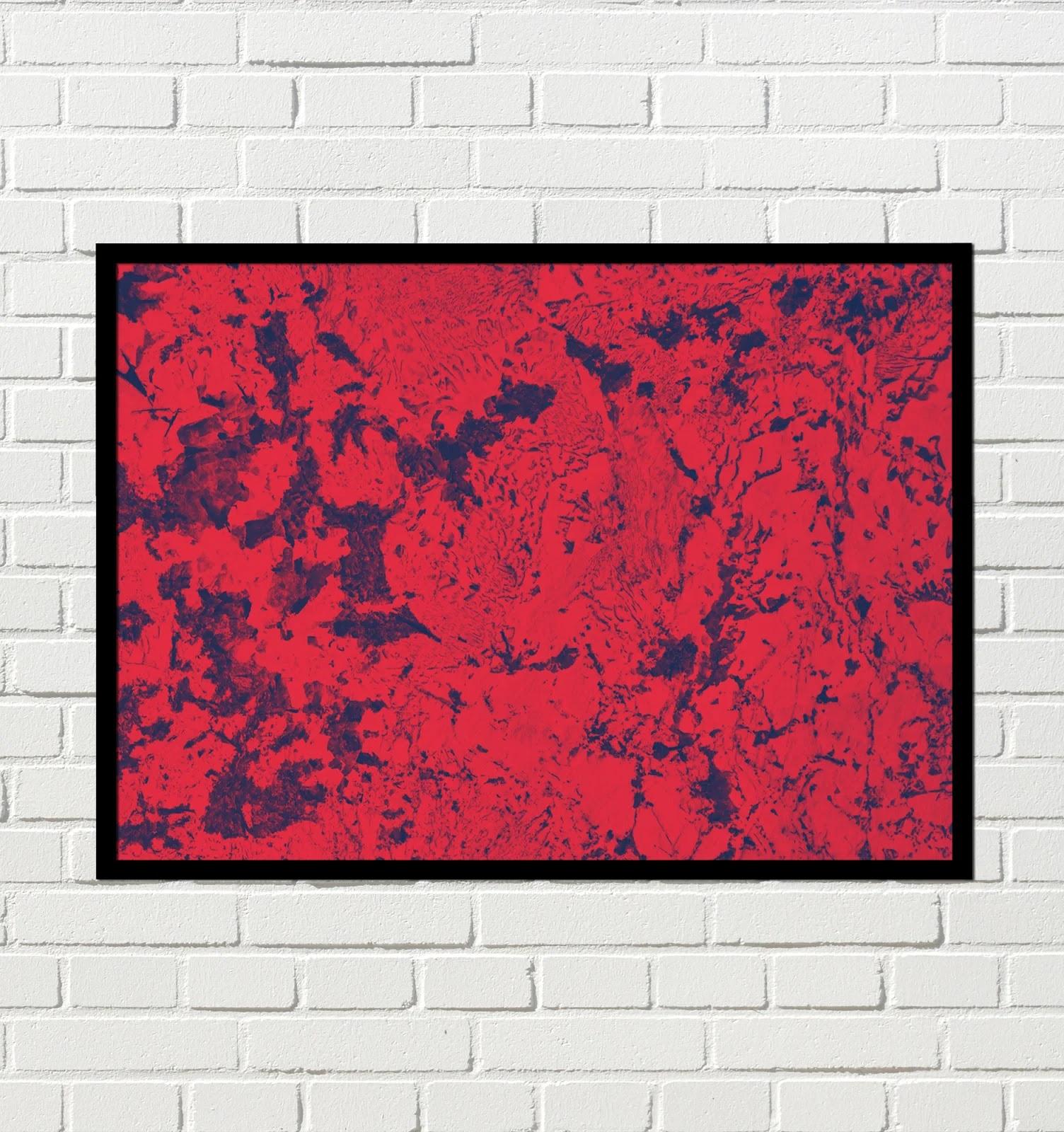 Cuadro Arte abstracto rojo y negro