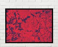 Cuadro abstracto rojo y negro