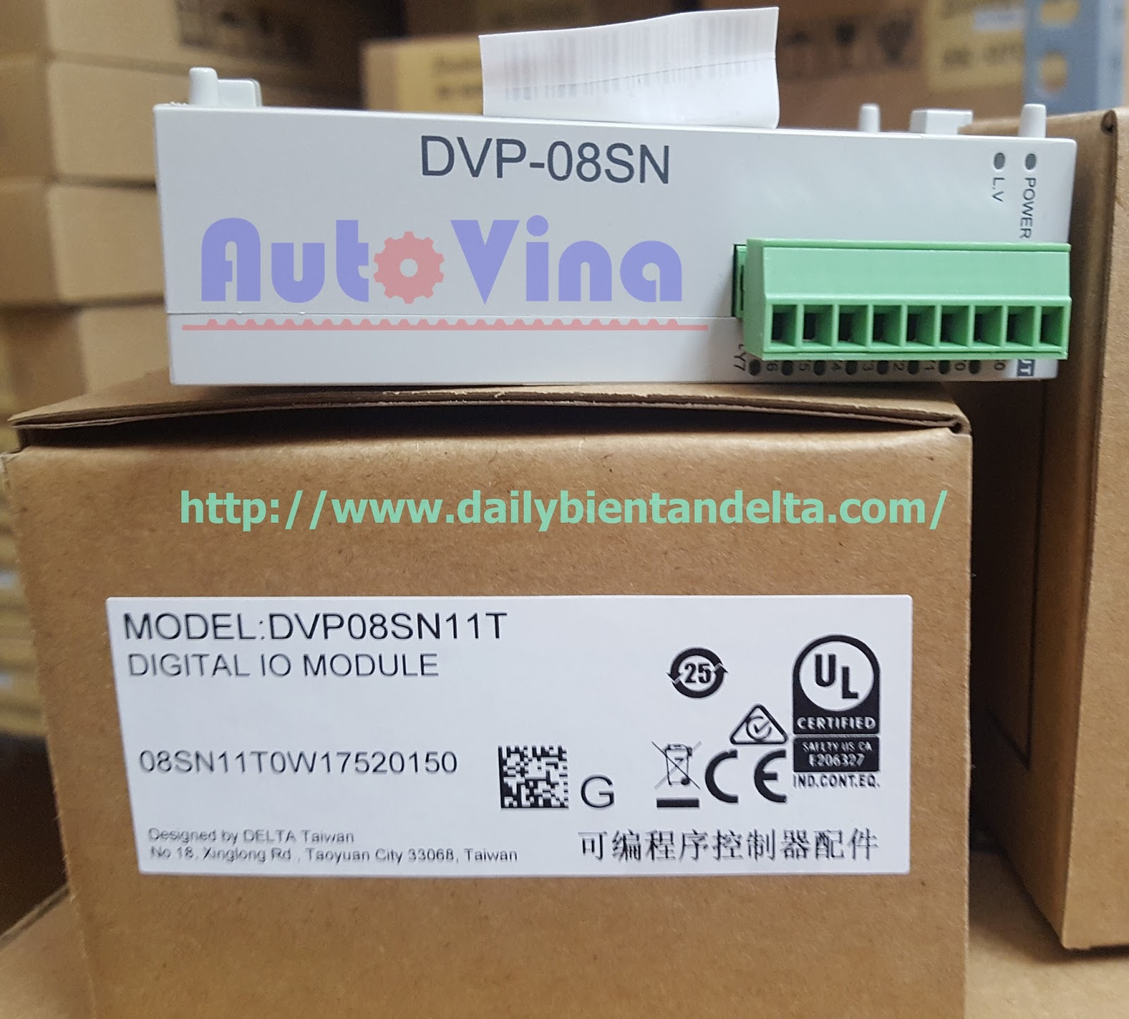 Module mở rộng 8 ngõ ra transistor output PLC Delta DVP08SN11T