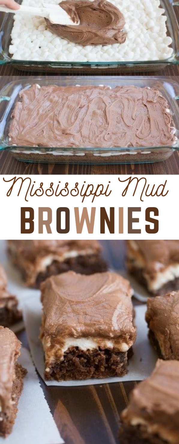 MISSISSIPPI MUD BROWNIES #brownies #cake