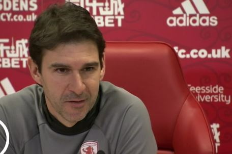 Pelatih Middlesbrough Aitor Karanka