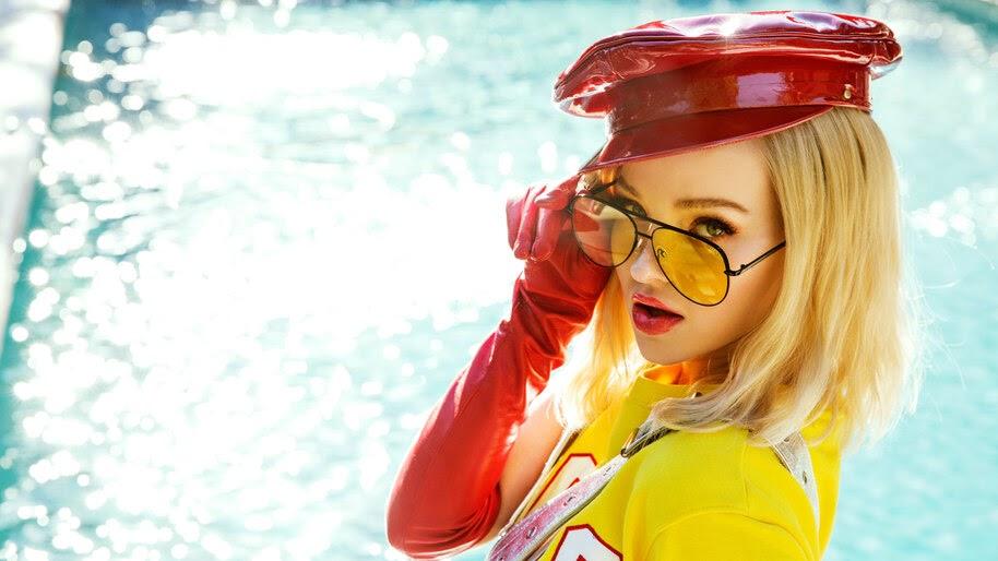 Dove Cameron, Glasses, Blonde, Girl, 8K, #4.1383
