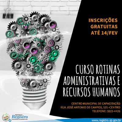 Secretaria de Assistência e Desenvolvimento Social abre inscrições para dois cursos gratuitos em Registro-SP