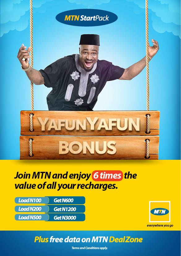 MTN StartPack- Get 500% On All Your Recharge For 6Months