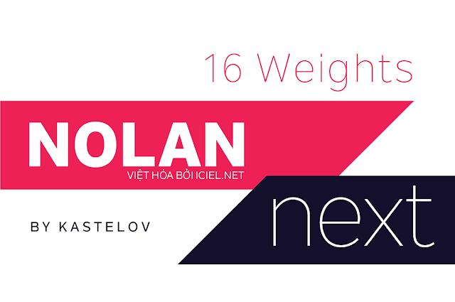 [Sans-serif] Nolan Next Việt hóa