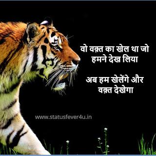 वो वक़्त का खेल था जो  हमने देख लिया attitude status in hindi
