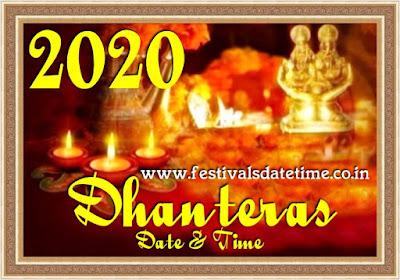 2020 Dhanteras Date & Time in India, Mahalakshmi Kuber Puja 2020 - धनतेरस 2020 तारीख और समय, महालक्ष्मी कुबेर पूजा