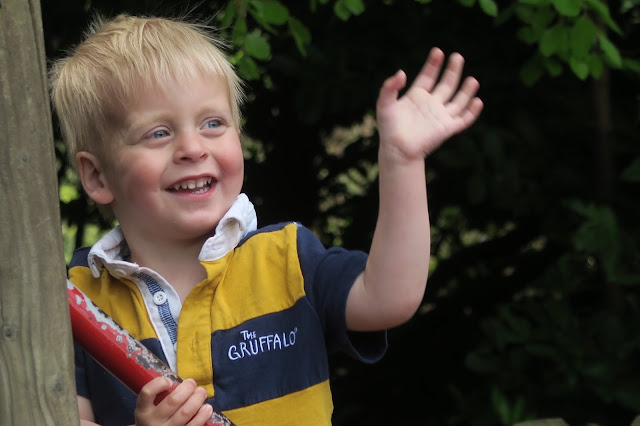Alexander waving