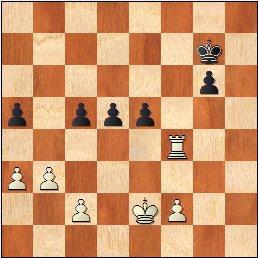 Partida de ajedrez Borao-Manchón, posición después de 41.Txf4?