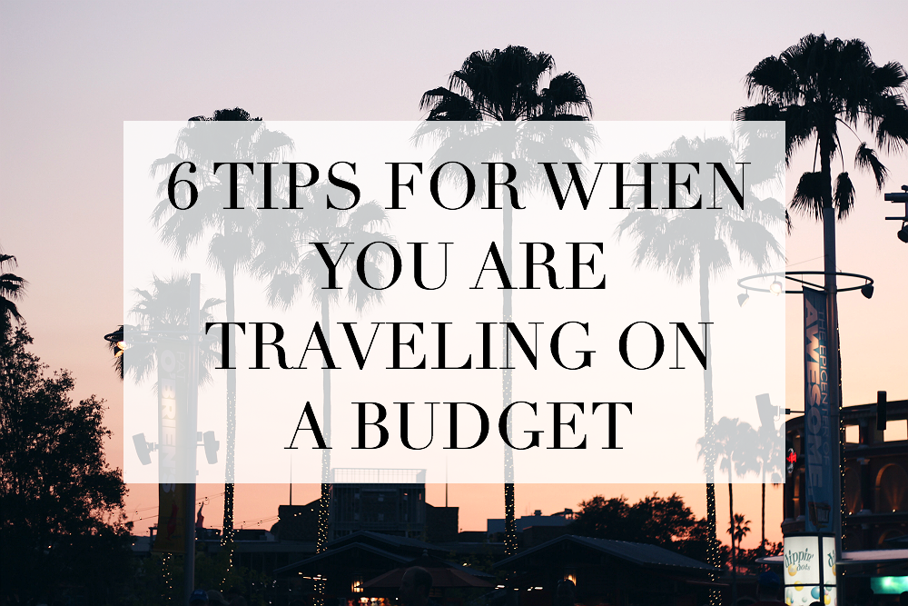 tips traveling on a budget