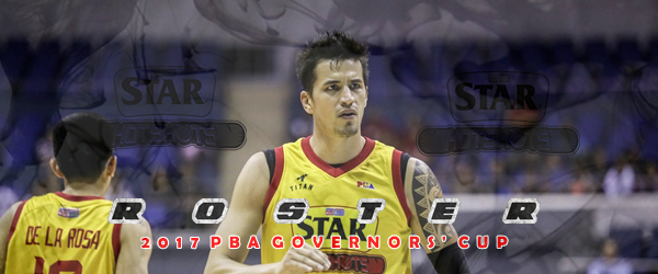 List of Star Hotshots Roster 2017 PBA Governors' Cup