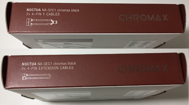 Noctua Chromax Y-Cables (NA-SYC1) and Extension Cables (NA-SEC1)
