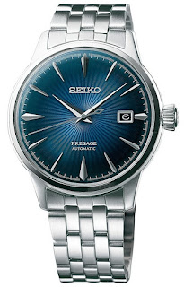 "SEIKO PRESAGE Automatic Blue Gradation Cocktail Time ""Blue Moon"" SRPB41J1"