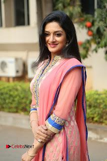 Actress Vimala Raman Stills in Beautiful Pink Salwar Kameez at (ONV) Om Namo Venkatesaya Press Meet  0136.JPG