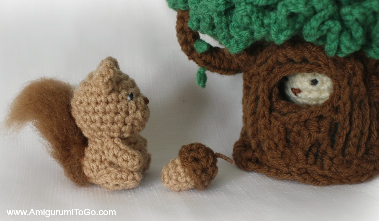 Lil Oak The Hiding Tree Amigurumi To Go