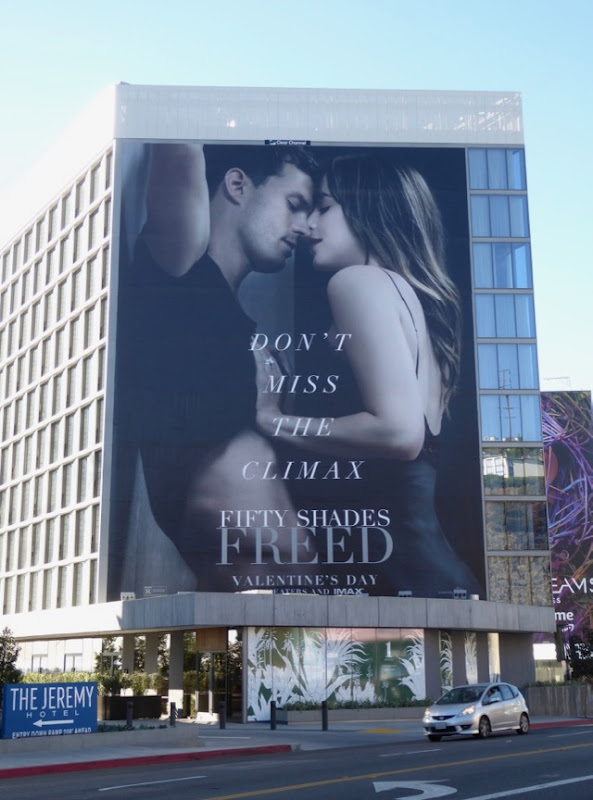 Giant Fifty Shades Freed film billboard