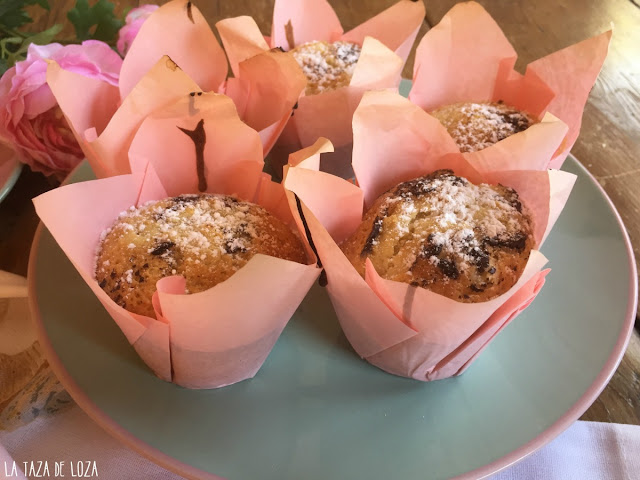 muffins-servidos-para-una-merienda