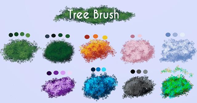 فرش tree brush