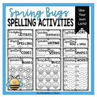 Looking for spelling activities to incorporate into your word work centers? These are perfect and you can use ANY spelling list! These back to school spelling word activities are great for first grade and 2nd. The themes help to keep students engaged during their centers while receiving great spelling practice! #spelling #wordwork #spellingstrategies #backtoschool #centers #stations #classroomcenters #classroomstations