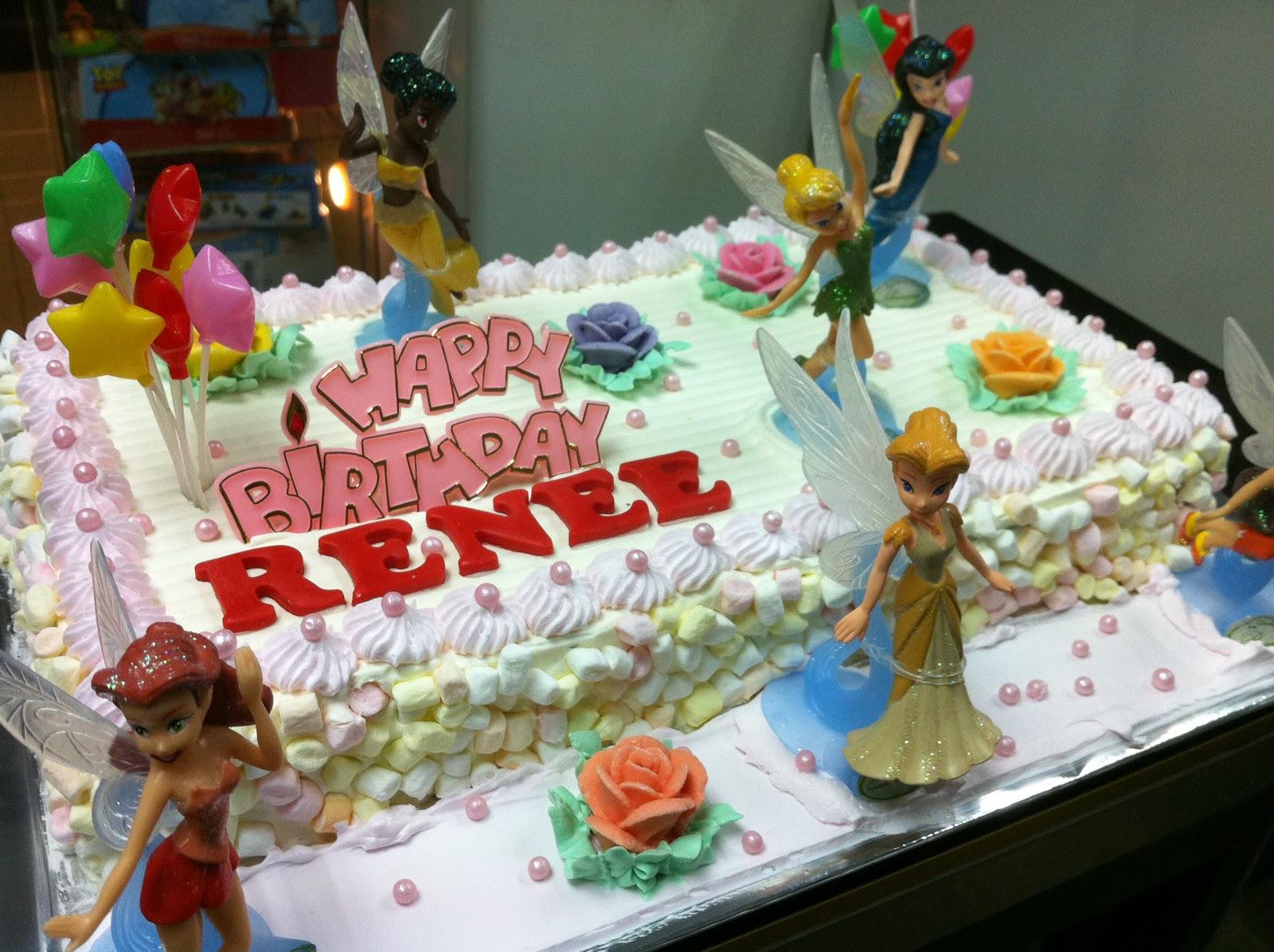 Haven Bakery Fairies Theme Birthday Cake For Renee