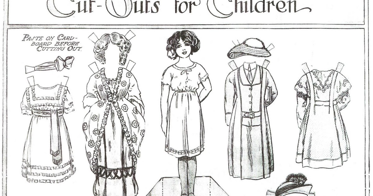 Mostly Paper Dolls: A Young Lady To Color