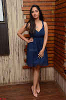 Radhika Mehrotra in a Deep neck Sleeveless Blue Dress at Mirchi Music Awards South 2017 ~  Exclusive Celebrities Galleries 075.jpg
