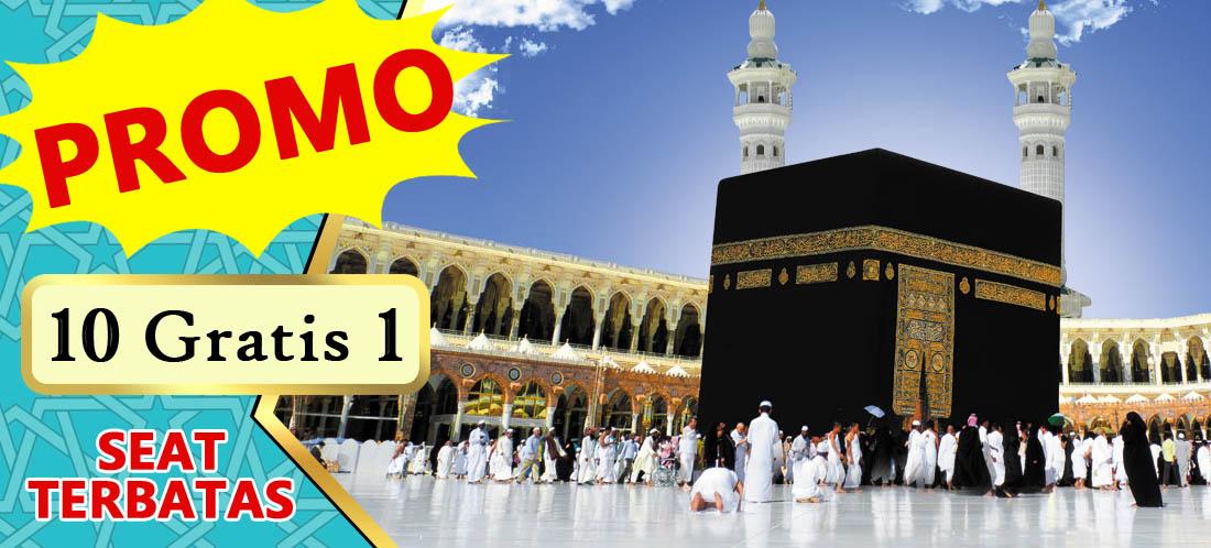 Paket Umroh Promo 2019 10 gratis 1Khazzanah Tour