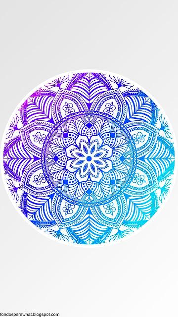 Fondo de Mandala en color turquesa