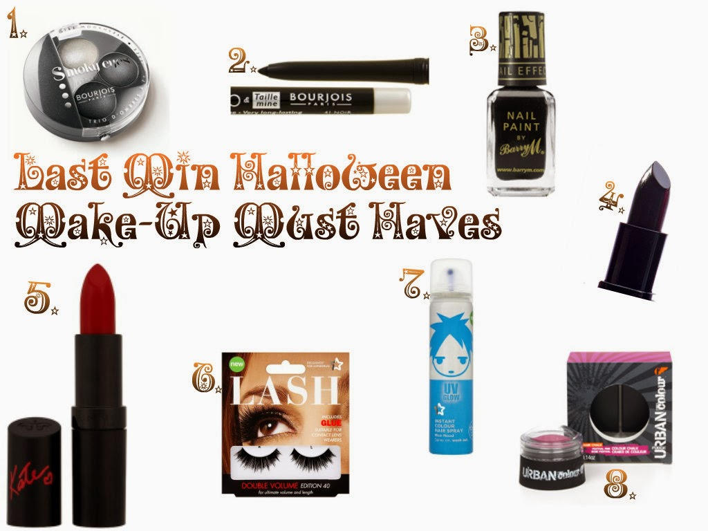 Last minute halloween make-up must haves 2013