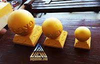 bola emas dari batu alam paras jogja (batu putih)
