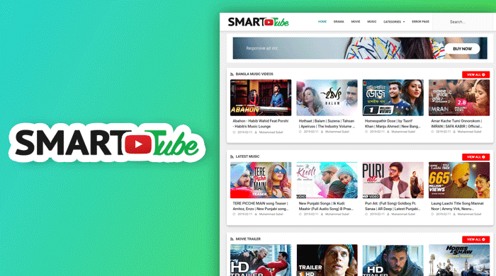 Smart Tube Video Blogger Template