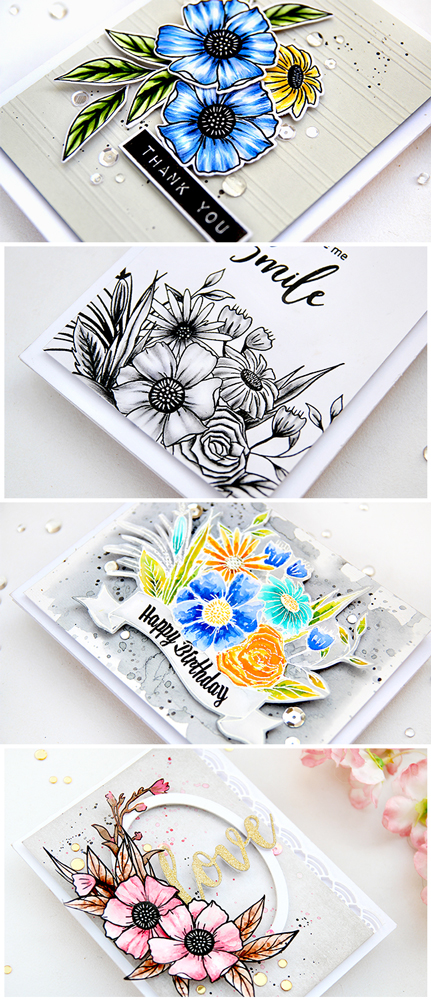 Altenew Happy Bloom Stamp Set | Erum Tasneem | @pr0digy0