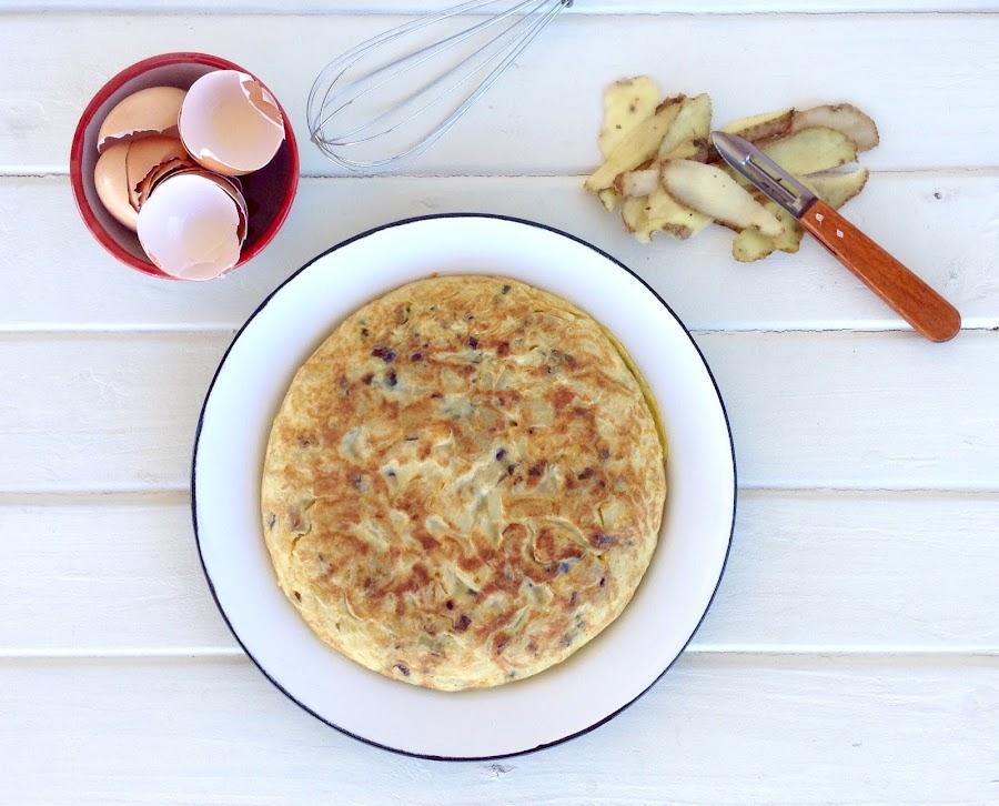 Tortilla de patatas al micro (baja en calorías)