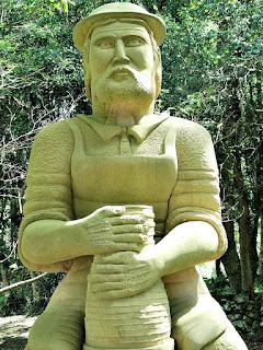 Töpfer (Oleiro) (Detalhe), Profissões dos Imigrantes Alemães no Parque Pedras do Silêncio, Nova Petrópolis