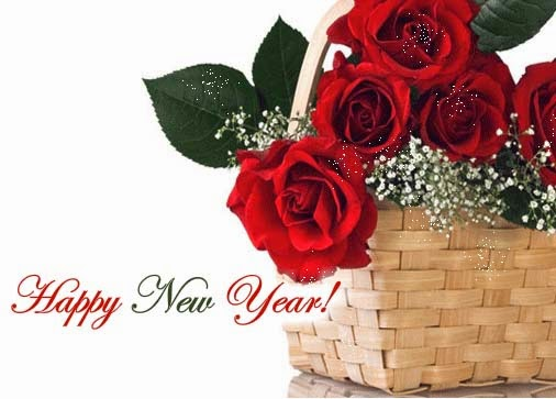 Happy New Year 2016 Red Rose Images for Wife