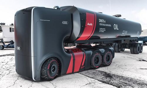 www.Tinuku.com Dua Proposal Konsep Desain Truk Elektrik Futuristik Membawa Brand Audi