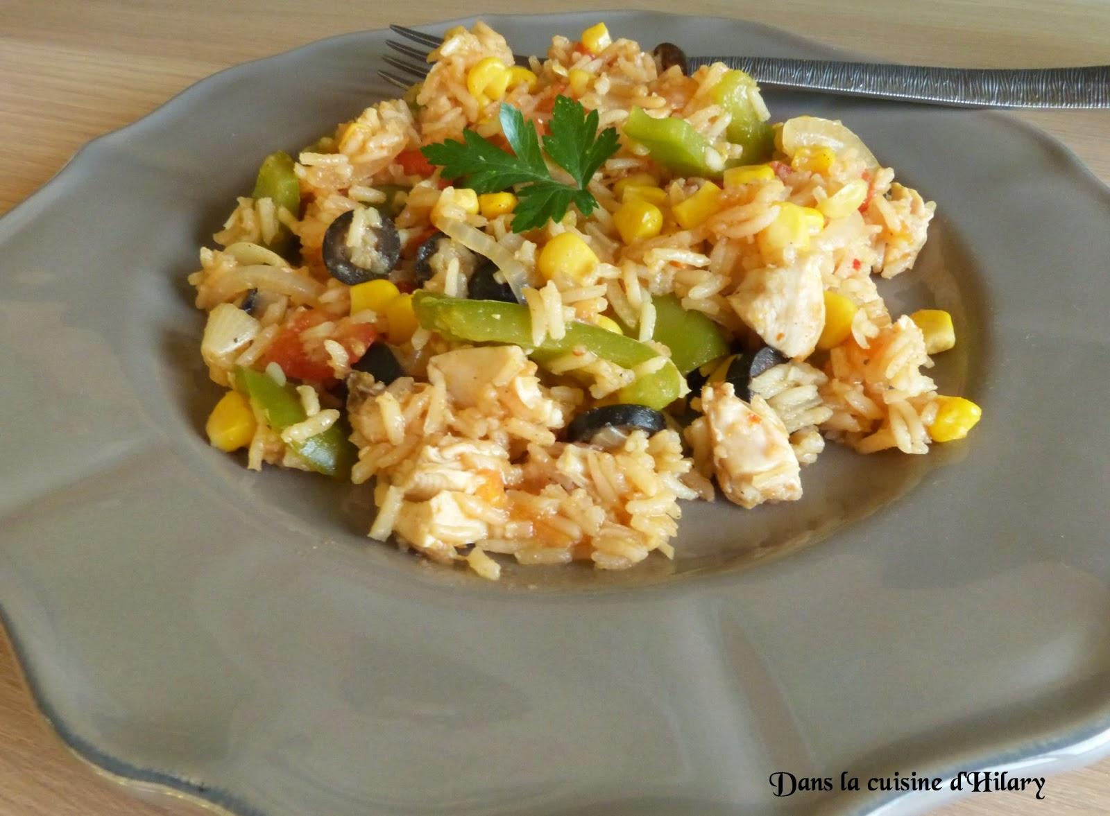 Poêlée de riz au poulet à la mexicaine
