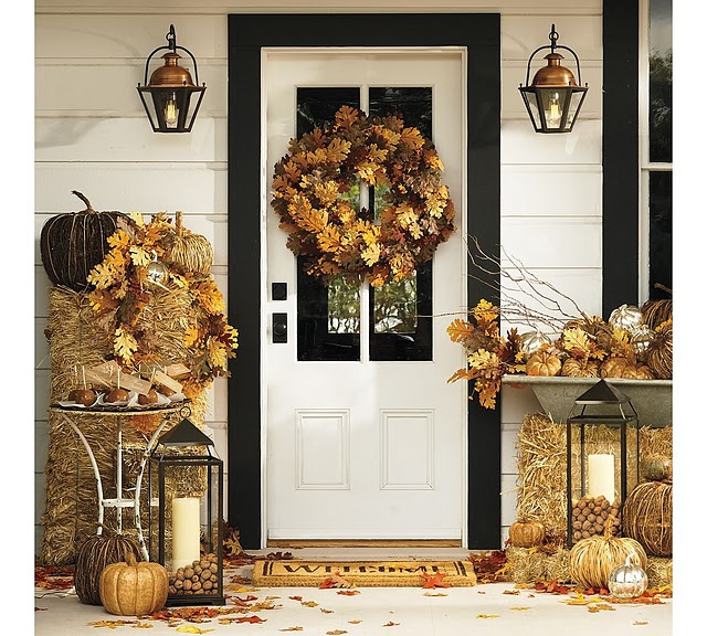 Fall Door Decor: Inspired Admired: Autumn & Halloween Door Decorating