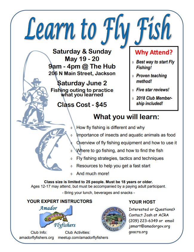 Learn To Fly Fish - May 19 & 20
