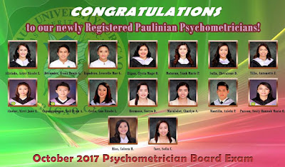 Congratulations to our newly Registered Paulinian Psychometricians!