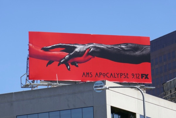 American Horror Story Apocalypse demon arms billboard