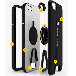 Système de mousqueton intégré à la coque Beeline pour iPhone
