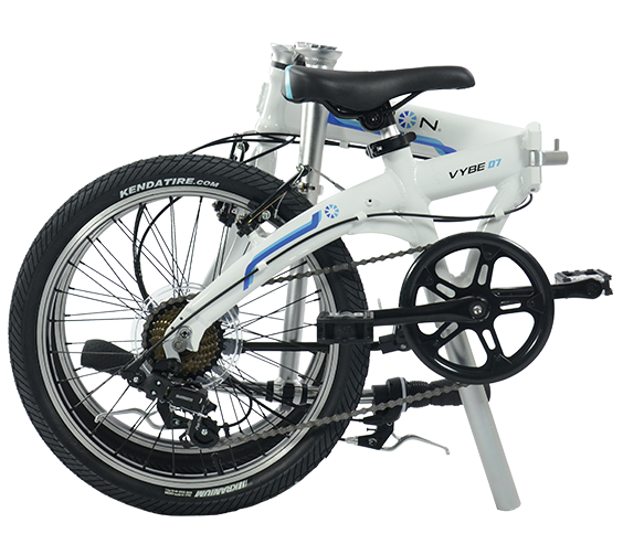 Dahon Vybe D7 Wit Opgevouwen