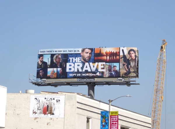 Brave series launch billboard