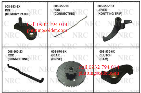 Lever (Kontting Trip) 008-553-13X Rod (Connecting) 008-560-23 Gear (Drive) 008-570-5X Clutch (Cam) 008-570-6X Gear (Reversing Roll) 008-57-9 Roll (Reversing) 008-57-13